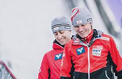 16.02.2020, Kulm, Bad Mitterndorf, AUT, FIS Ski Flug Weltcup, Kulm, Herren, im Bild v.l. Sportdirektor Ski Nordisch Mario Stecher (AUT), Cheftrainer Andreas Felder (AUT) // f. l: Sports Director Nordic Ski Mario Stecher (AUT) Head Coach Andreas Felder (AUT) during the men's FIS Ski Flying World Cup at the Kulm in Bad Mitterndorf, Austria on 2020/02/16. EXPA Pictures © 2020, PhotoCredit: EXPA/ JFK