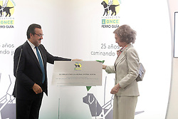24.09.2015, Madrid, ESP, 25 Jahre Perro Guia ONCEs Foundation, im Bild Queen Sofia of Spain and ONCE's President Miguel Carballeda // during the 25th anniversary of 'Perro Guia ONCE's Foundation'. in Madrid, Spain on 2015/09/24. EXPA Pictures © 2015, PhotoCredit: EXPA/ Alterphotos/ Acero<br /> <br /> *****ATTENTION - OUT of ESP, SUI*****