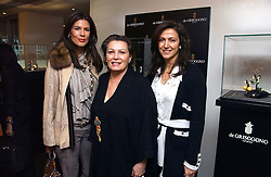 Left to right, CHRISTINA ESTRADA JUFFALI, her mother CHANTELLE LEE and MRS BOB MANOUKIAN at a lunch hosted by Fawaz Gruosi to celebrate the launch of De Grisogono's latest watch 'Be Eight' held at Nobu, 19 Old Park Lane, London W1 on 30th November 2006.<br />