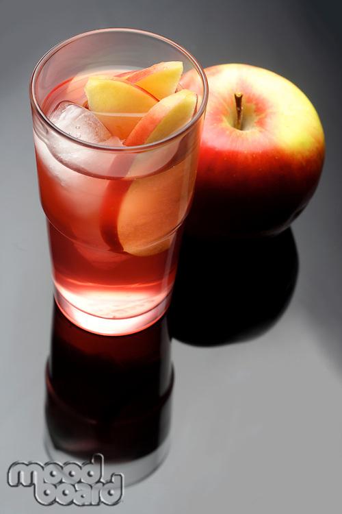 Studio shot of apple juice