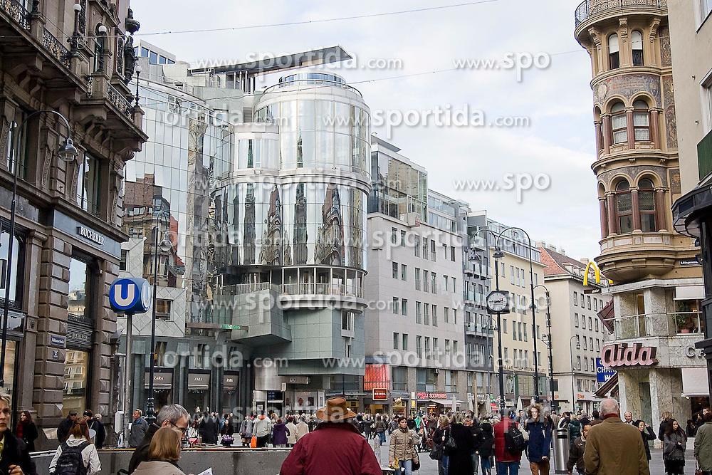 11.11.2010, Graz, AUT, Feature, im Bild Haas-Haus in der Kaerntner Strasse am Stephansplatz, EXPA Pictures © 2012, PhotoCredit: EXPA/ Erwin Scheriau