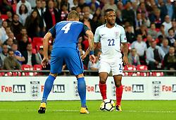 Raheem Sterling of England takes on Jan Durica of Slovakia - Mandatory by-line: Robbie Stephenson/JMP - 04/09/2017 - FOOTBALL - Wembley Stadium - London, United Kingdom - England v Slovakia - 2018 FIFA World Cup Qualifier