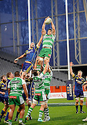 Michael Fitzgerald in action for Manawatu in the ITM Cup Rugby Match. Otago v Manawatu at Forsyth Barr Stadium, Dunedin, New Zealand. Friday 10 October 2014. New Zealand. Photo: Richard Hood/photosport.co.nz