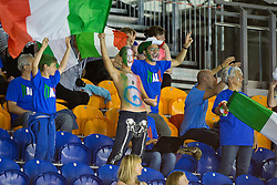 Italian spectators in tribunes  at 2015 IPC Swimming World Championships -