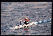 London. United Kingdom. Wim van BELLEGEM. 1990 Scullers Head of the River Race. River Thames, viewpoint Chiswick Bridge Saturday 07.04.1990<br /> <br /> [Mandatory Credit; Peter SPURRIER/Intersport Images] 19900407 Scullers Head, London Engl