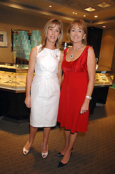 Left to right, CAROLINE ARMSTRONG-JONES and LORRAINE SPENCER at a n evening of private shopping in aid of Elizabeth Fitzroy Support at Tiffany & Co, 145 Sloane Street, London on 14th May 2008.<br /><br />NON EXCLUSIVE - WORLD RIGHTS