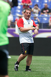 BALTIMORE, MD - Friday, July 27, 2012: Liverpool's manager Brendan Rodgers during a training session ahead of the pre-season friendly match against Tottenham Hotspur at the M&T Bank Stadium. (Pic by David Rawcliffe/Propaganda)