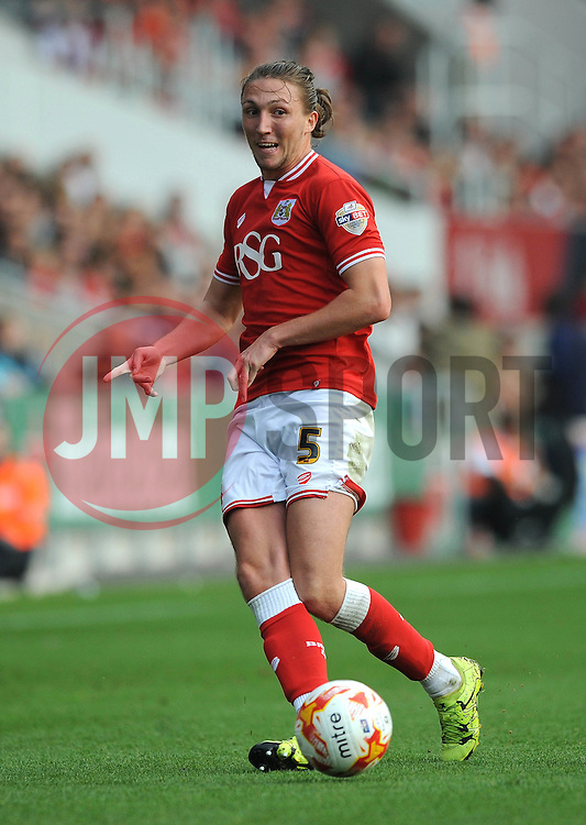 Luke Ayling of Bristol City - Mandatory byline: Dougie Allward/JMP - 07966 386802 - 03/10/2015 - FOOTBALL - Ashton Gate - Bristol, England - Bristol City v MK Dons - Sky Bet Championship