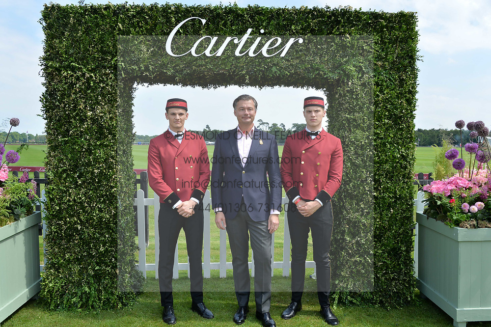 Laurent Feniou at Cartier Queen's Cup Polo, Guard's Polo Club, Berkshire, England. 18 June 2017.<br /> Photo by Dominic O'Neill/SilverHub 0203 174 1069 sales@silverhubmedia.com