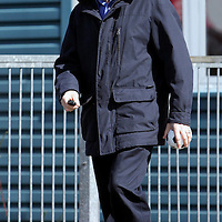 St Johnstone manager John Connolly leaves McDiarmid Park after being sacked by chairman Geoff Brown this morning....04.04.05<br />see story by Gordon Bannerman Tel: 01738 553978 or 07729 865788<br />Picture by Graeme Hart.<br />Copyright Perthshire Picture Agency<br />Tel: 01738 623350  Mobile: 07990 594431