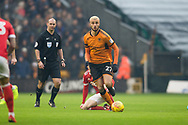 Romain Saiss of Wolverhampton Wanderers in action during the EFL Sky Bet Championship match between Wolverhampton Wanderers and Nottingham Forest at Molineux, Wolverhampton, England on 20 January 2018. Photo by Darren Musgrove.