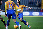 Mansfield Town midfielder Jorge Grant drives forward during the EFL Sky Bet League 2 match between Notts County and Mansfield Town at Meadow Lane, Nottingham, England on 16 February 2019.