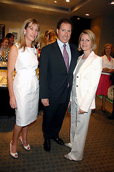 Left to right, CAROLINE ARMSTRONG-JONES and VISCOUNT & VISCOUNTESS LINLEY at an evening of private shopping in aid of Elizabeth Fitzroy Support at Tiffany & Co, 145 Sloane Street, London on 14th May 2008.<br />