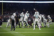 Miami Dolphins in action during the NFL week 8 regular season football game against the Houston Texans on Thursday, Oct. 25, 2018 in Houston. The Texans won the game 42-23. (©Paul Anthony Spinelli)