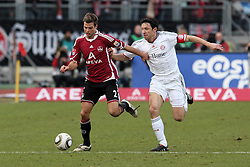 20.02.2010, EasyCredit Stadion, Nürnberg, GER, 1. FBL, 1. FC Nuernberg vs FC Bayern Muenchen, Saison 09 10, im Bild Zweikampf zwischen Dennis Diekmeier (FCN #2) und  Mark von Bommel (Bayern #17). EXPA Pictures © 2010 for Austria, Italy and GBR only, Photographer EXPA / NPH  / Becher / for Slovenia SPORTIDA PHOTO AGENCY.