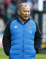 February 10, 2019 - London, England, United Kingdom - England's Coach Eddie Jones during warm up..during the Guiness 6 Nations Rugby match between England and France at Twickenham  Stadium on February 10th,  in Twickenham, London, England. (Credit Image: © Action Foto Sport/NurPhoto via ZUMA Press)