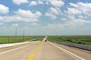 Texas State Highway 124, toward the Gulf of Mexico, Chambers County, Texas, USA