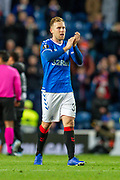 Scott Arfield (#37) of Rangers FC during the Group G Europa League match between Rangers FC and FC Porto at Ibrox Stadium, Glasgow, Scotland on 7 November 2019.