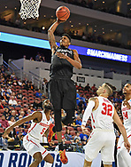 San Diego State Aztecs forward Malik Pope (21) dunks against the Houston Cougars during the first half in the first round of the 2018 NCAA Tournament at INTRUST Bank Arena.