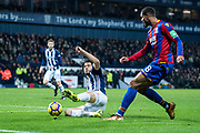 Crystal Palace #8 Ruben Loftus-Cheek, West Bromwich Albion (26) Ahmed Hegazi during the Premier League match between West Bromwich Albion and Crystal Palace at The Hawthorns, West Bromwich, England on 2 December 2017. Photo by Sebastian Frej.