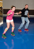 Sweet sixteen party for twins Calsey and Morgan Fontaine-Wilmot at the Skate Escape roller skating rink in Laconia, NH.