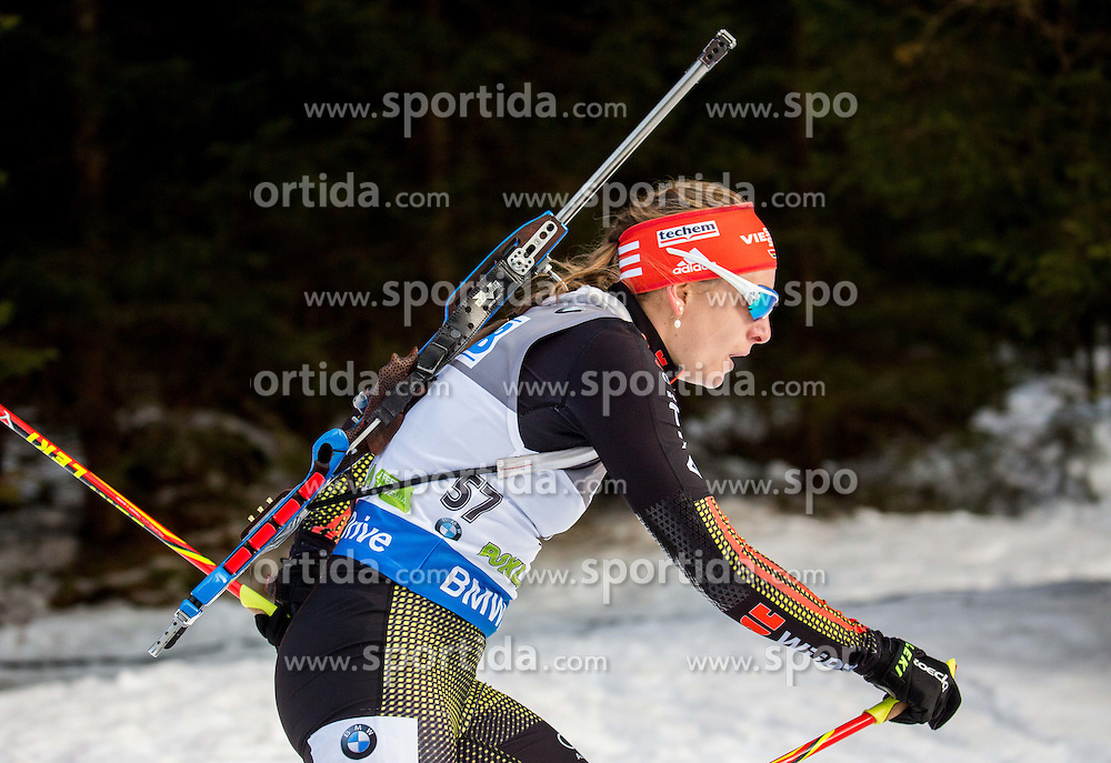 Vanessa Hinz (GER) competes during Women 7,5 km Sprint at day 2 of IBU Biathlon World Cup 2015/16 Pokljuka, on December 18, 2015 in Rudno polje, Pokljuka, Slovenia. Photo by Vid Ponikvar / Sportida