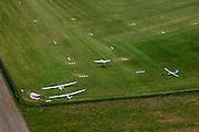 Nederland, Noord-Holland, Hilversum, 14-06-2012; vliegveld Hilversum, zweefvliegtuigjes op het gras van het vliegveld..Gliders on Airport Hilversum. .luchtfoto (toeslag), aerial photo (additional fee required).foto/photo Siebe Swart