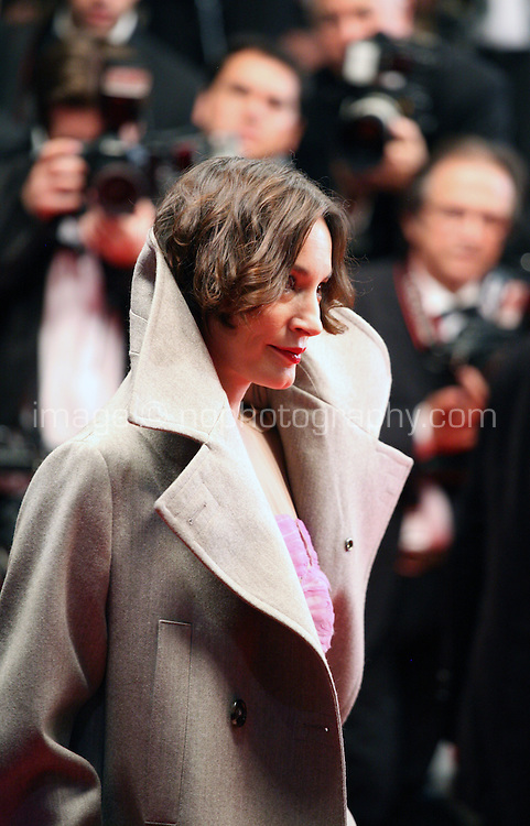 Jeanne Balibar at the Holy Motors gala screening, red carpet at the 65th Cannes Film Festival France. Wednesday 23rd May 2012 in Cannes Film Festival, France.