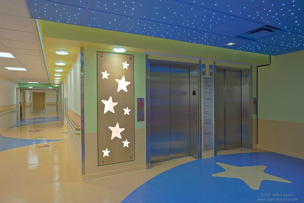 Washington DC Architectural Interior of the Children's National Medical  Center 7th floor built by Hitt Contracting.