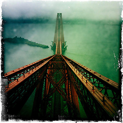 Top of the Forth Rail Bridge..Hipstamatic images taken on an Apple iPhone..©Michael Schofield.