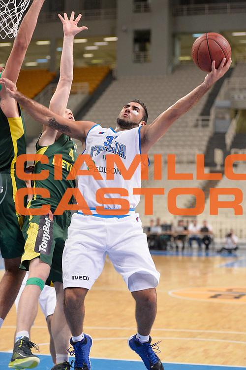 DESCRIZIONE : Atene Akropolis Cup Italia Lituania Italy Lithuania<br /> GIOCATORE : Pietro Aradori<br /> CATEGORIA : tiro penetrazione<br /> SQUADRA : Nazionale Italia Maschile Uomini<br /> EVENTO : Atene Akropolis Cup<br /> GARA : Italia Lituania Italy Lithuania<br /> DATA : 27/08/2013<br /> SPORT : Pallacanestro<br /> AUTORE : Agenzia Ciamillo-Castoria/R.Morgano<br /> Galleria : FIP Nazionali 2013<br /> Fotonotizia : Atene Akropolis Cup Italia Lituania Italy Lithuania<br /> Predefinita :