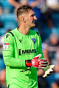 Gillingham FC goalkeeper Jack Bonham (1) during the EFL Sky Bet League 1 match between Gillingham and Wycombe Wanderers at the MEMS Priestfield Stadium, Gillingham, England on 14 September 2019.