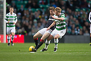 Dundee's Craig Wighton and Celtic's Gary Mackay-Steven battle for the ball - Celtic v Dundee in the Ladbrokes Scottish Premiership at Celtic Park, Glasgow. Photo: David Young<br /> <br />  - © David Young - www.davidyoungphoto.co.uk - email: davidyoungphoto@gmail.com