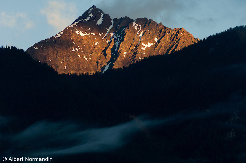Sunrise in the Rocky Mountains, British Columbia, Canada