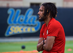 LOS ANGELES, USA - Wednesday, May 23, 2018: Wales' captain Ashley Williams during a training session at UCLA ahead of the International friendly match against Mexico. (Pic by David Rawcliffe/Propaganda)