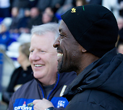 BIRKENHEAD, ENGLAND - Saturday, February 18, 2012: Charlton Athletic's manager Chris Powell and Tranmere Rovers' manager Les Parry before the Football League One match at Prenton Park. (Pic by Vegard Grott/Propaganda)
