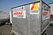 Israel, Ben-Gurion international Airport, Iberia Cargo Container