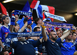 France's fans during FIFA Women's World Cup France group A match France v Brazil on June 23, 2019 in Le Havre, France. France won 2-1 after extra time reaching quarter-finals. Photo by Christian Liewig/ABACAPRESS.COM