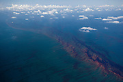 Gulf of Mexico, Louisiana (USA). May 21th, 2010. .Aerial view of the oil leaked from the Deepwater Horizon wellhead in the Gulf of Mexico. The BP leased oil platform exploded on April 20 and sank after burning. Photo © Daniel Beltra/Greenpeace