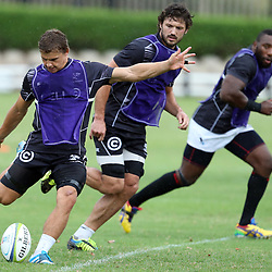 DURBAN, SOUTH AFRICA - MARCH 04:  during the Cell C Sharks training session at Growthpoint Kings Park on March 04, 2014 in Durban, South Africa. (Photo by Steve Haag/Gallo Images)