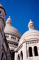 Sacre Coeur Church with blue sky background