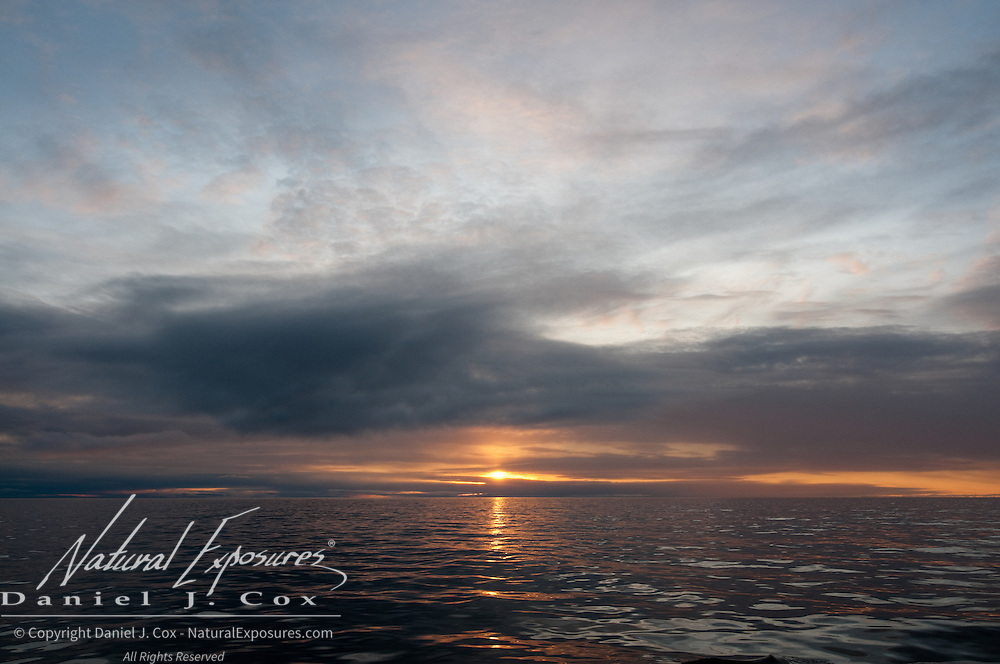 Sunset over the Arctic Ocean in late September.