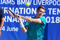 LIVERPOOL, ENGLAND - Sunday, June 24, 2018: Neal Skupski (GBR) during day four of the Williams BMW Liverpool International Tennis Tournament 2018 at Aigburth Cricket Club. (Pic by Paul Greenwood/Propaganda)