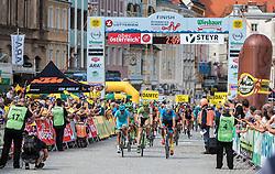 04.07.2016, Steyr, AUT, Ö-Tour, Österreich Radrundfahrt, 2. Etappe, Mondsee nach Steyr, im Bild Zieleinfahrt Steyr, Uebersicht // Zieleinfahrt Steyr, Uebersicht during the Tour of Austria, 2nd Stage from Mondsee to Steyr, Austria on 2016/07/04. EXPA Pictures © 2016, PhotoCredit: EXPA/ JFK