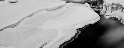 The Oxara river covered with ice, Iceland - Öxará í klakaböndum