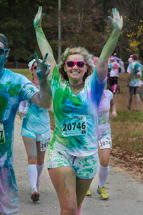 The Color Me Rad event at the Time Warner Cable Music Pavilion at Walnut Creek, Raleigh, NC, on October 27, 2012.  The proceeds of this fundraiser benefits the Special Olympics.