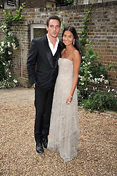 Jonathan Rhys Meyers and Reena Hammer at the Raisa Gorbachev Foundation fourth annual fundraising gala dinner held at Stud House, Hampton Court, Surrey on 6th June 2009.