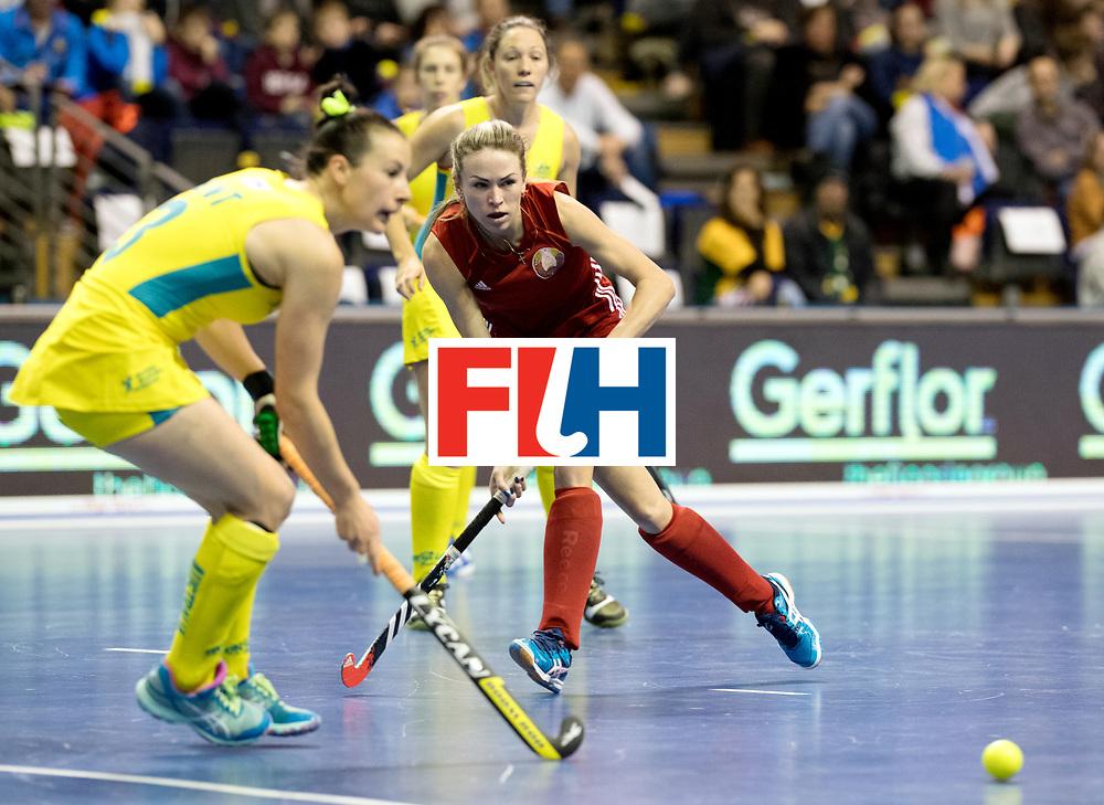 BERLIN - Indoor Hockey World Cup<br /> Quarterfinal 1: Belarus - Australia<br /> foto: SILITSKAYA Nadzeya.<br /> WORLDSPORTPICS COPYRIGHT FRANK UIJLENBROEK