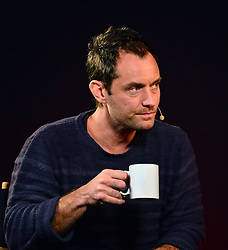 British actor Jude Law, known most recently for his work on Anna Karenina and Sherlock Holmes, discusses his latest film Side Effects, directed by Steven Soderbergh, about a woman seeking psychiatric treatment to cope with her husband's imminent release from prison, released March 8, at Apple Store, 235 Regent Street, London, United Kingdo, February 27, 2013. Photo by Nils Jorgensen / i-Images.<br />