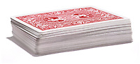 red and white deck of cards